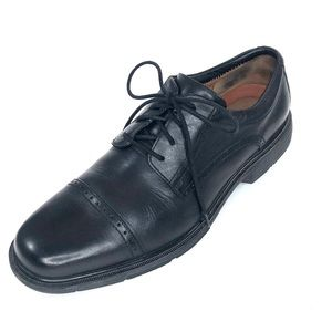 Clark's Unstructured Black Lace Up Oxford Sz 11.5